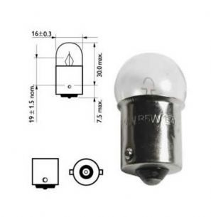 207 SIDE LAMP BULB 5 WATT SCC